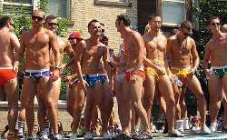 Gay Men line up for iPhone