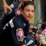 Cross-eyed policewoman